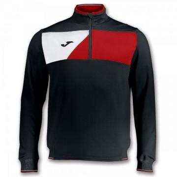 SWEATSHIRT CREW II BLACK-RED